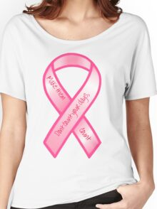 Breast Cancer Support Shirt Women's Relaxed Fit T-Shirt