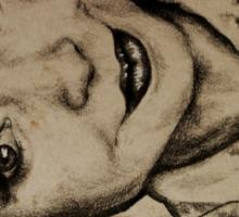 Zoella charcoal portrait. Sticker
