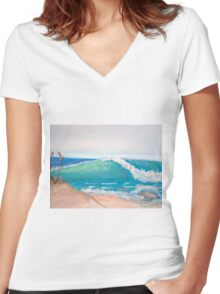 Beach Right Women's Fitted V-Neck T-Shirt
