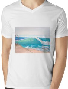 Beach Right Mens V-Neck T-Shirt