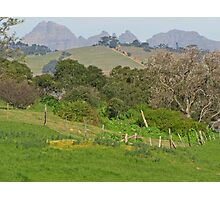 Farm paddock view of the Boland Mountains Photographic Print