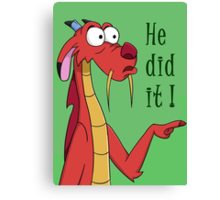 He did it Canvas Print