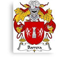 Barrera Coat of Arms/ Barrera Family Crest Canvas Print