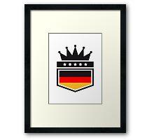 Coat of arms banner King Germany Framed Print