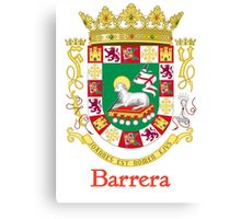 Barrera Shield of Puerto Rico Canvas Print