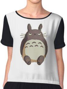 Grumpy Totoro Chiffon Top