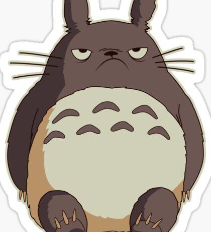 Grumpy Totoro Sticker