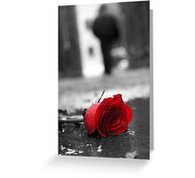 Discarded Rose Greeting Card
