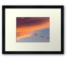Summer Cloudscape Framed Print