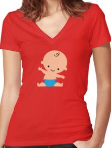 Baby Boy Women's Fitted V-Neck T-Shirt
