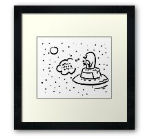 Penguin UFO Framed Print
