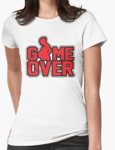 Game Over - Pregnant Womens Fitted T-Shirt
