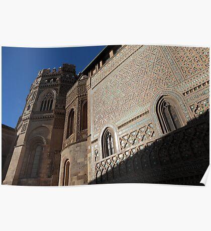 Catedral del Salvador of Zaragoza, Spain Poster