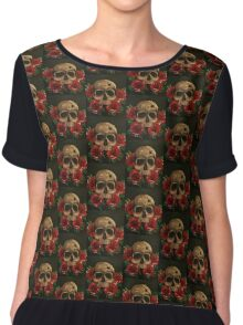Bury me with the Roses Chiffon Top