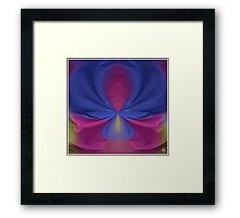 Painted Sheets Abstract No 4 Framed Print