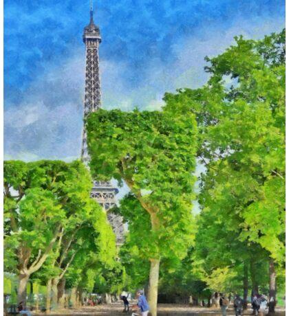 Springtime at the Eiffel Tower Sticker