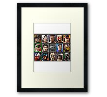 Mortal Kombat 3 Character Select Framed Print