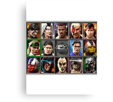 Mortal Kombat 3 Character Select Canvas Print