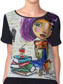 I Love Books 2 Chiffon Top