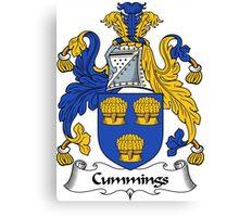 Cummings Coat of Arms / Cummings Family Crest Canvas Print