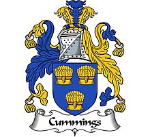 Cummings Coat of Arms / Cummings Family Crest Photographic Print