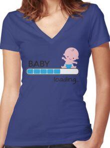Baby loading... Women's Fitted V-Neck T-Shirt