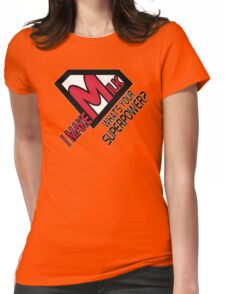I make milk. What's your superpower? Womens Fitted T-Shirt