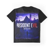 Resident Evil 7 Biohazard Blue Graphic T-Shirt
