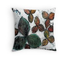 Leafy Winter Day Throw Pillow