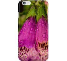 Digitalis purpurea with raindrops iPhone Case/Skin