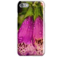 Digitalis purpurea with raindrops iPhone Case/Skin