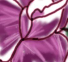 Rose Lady Flower Sticker