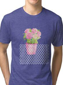 Pink Pot Floral Tri-blend T-Shirt