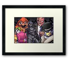 The Bad Guy are here Framed Print