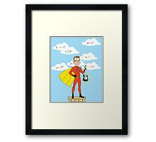 Teacher Superhero Framed Print
