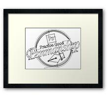 Pen Tool-manship Framed Print