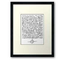 The Zodiac Killer Cypher Framed Print