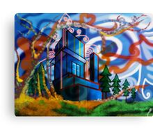 Dreamy City World Canvas Print