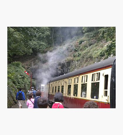 Old Fashioned Steam Train Photographic Print