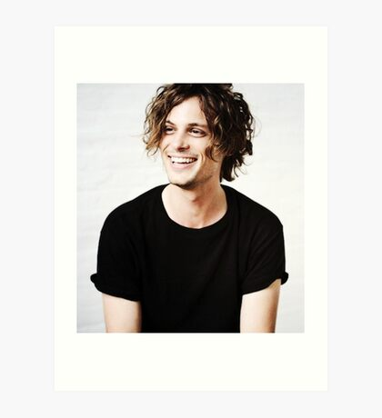 Matthew Gray Gubler smiling Art Print