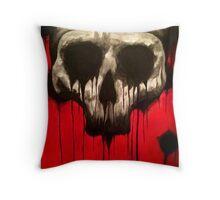 Dripping Skull Throw Pillow