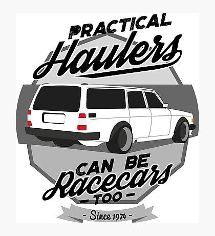 Hauler Racecar Photographic Print