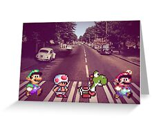 Abbey Road Mario Edition 2 Greeting Card