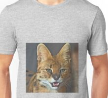 The African Serval cat (click to see large) Unisex T-Shirt