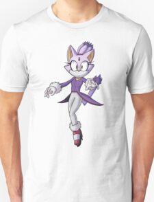 Blaze The Cat - Transparent Unisex T-Shirt