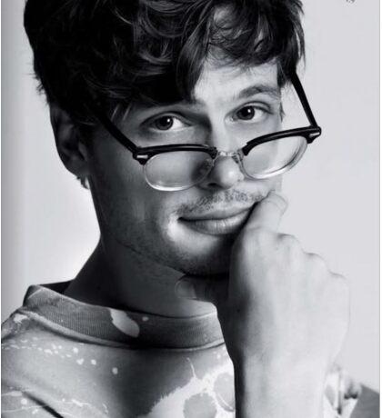 Matthew Gray Gubler with glasses Sticker