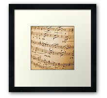 Sheet of Music Vintage Abstract Design Framed Print