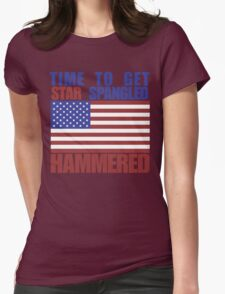 Star Spangled Hammered Womens Fitted T-Shirt