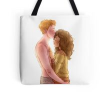 Ron and Hermione Tote Bag