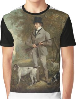Philip Reinagle - John Hind. Hunter painting: hunting man, nature, male, forest, wild life, masculine, dogs, hunt, manly, hunters men, hunter Graphic T-Shirt